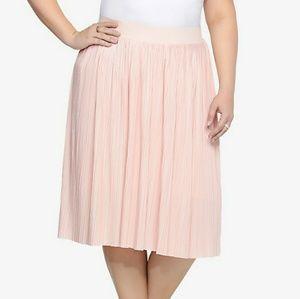 💔💔💔SOLD💔💔 pale blush pleated midi skirt 1x 1